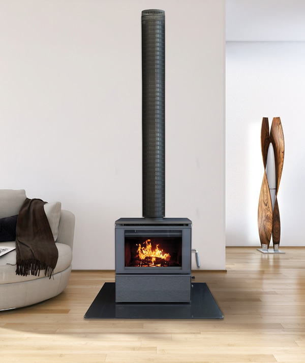 Heat Charm c500 console series 8 freestanding wood heater