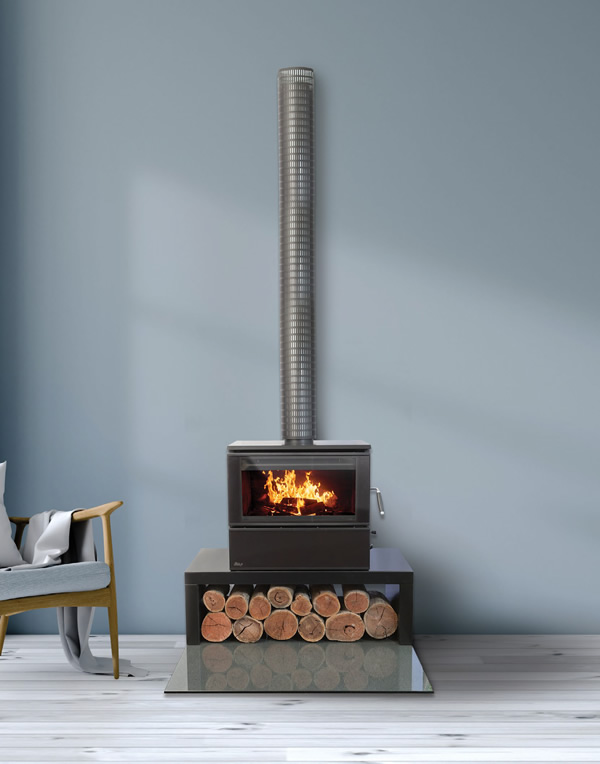 Heat Charm c600 console series 8 wood heater